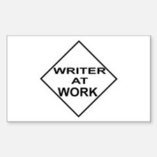 Writer at Work Writer's Rectangle Decal
