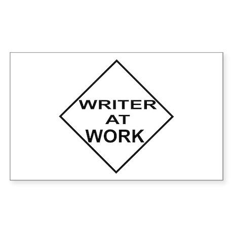 Writer at Work Writer's Rectangle Sticker
