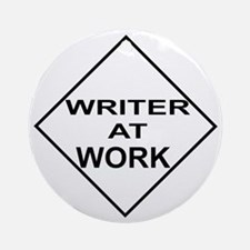 Writer at Work Writer's Ornament (Round)