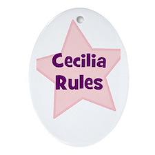 Cecilia Rules Oval Ornament