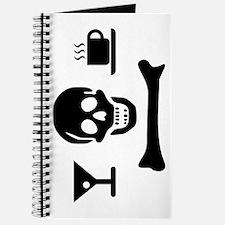 Beverage Jolly Roger Journal, Black on White