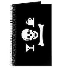 Beverage Jolly Roger Journal, White on Black