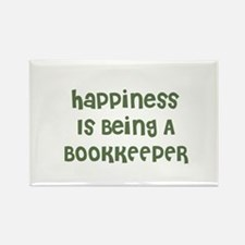 Happiness Is Being A BOOKKEEP Rectangle Magnet