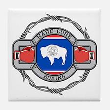 Wyoming Boxing Tile Coaster