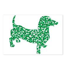 St. Patricks Day Dachshund Doxie Postcards (Packag
