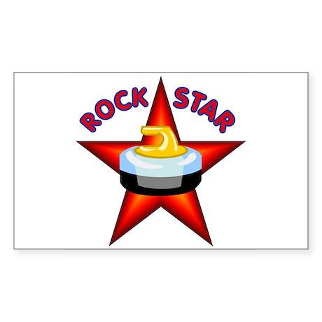 """Rock Star (Curling)"" Rectangle Sticker"