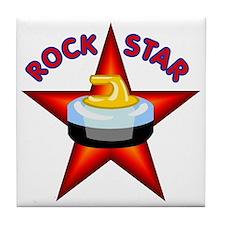 """""""Rock Star (Curling)""""  Tile Coaster"""