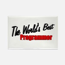 """The World's Best Programmer"" Rectangle Magnet"