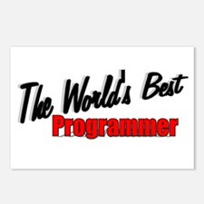 """""""The World's Best Programmer"""" Postcards (Package o"""