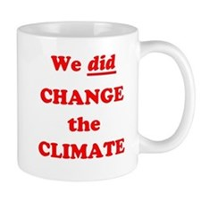 Red We did change the climate Mug