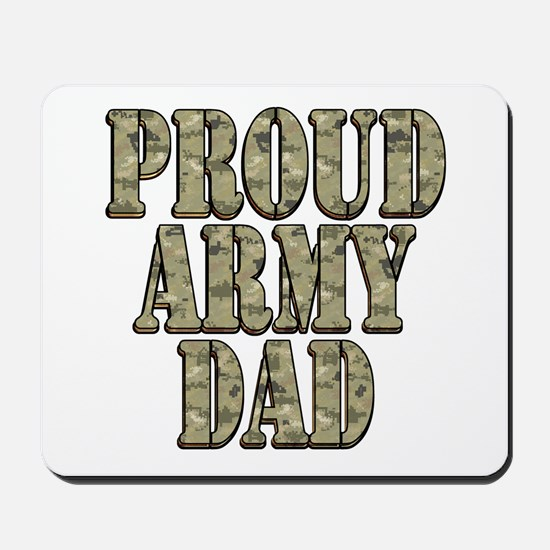 Cute Proud army dad Mousepad
