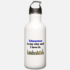 Edmonton Is My City And I Love It Water Bottle