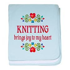 Knitting Joy baby blanket