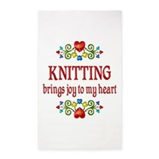 Knitting Joy 3'x5' Area Rug