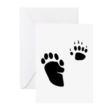 Skunk Tracks Greeting Cards (Pk of 10)