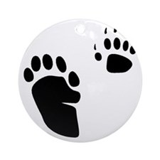 Skunk Tracks Ornament (Round)