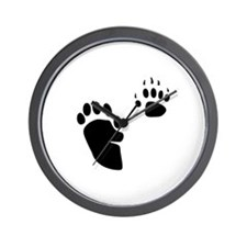 Skunk Tracks Wall Clock