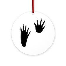 Raccoon Tracks Ornament (Round)