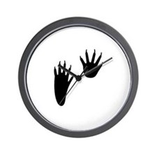 Raccoon Tracks Wall Clock
