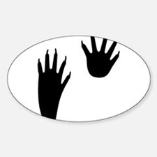 Raccoon Tracks Oval Decal