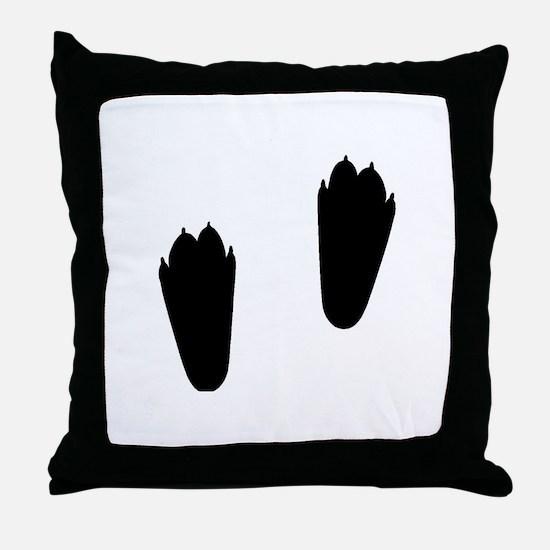 Rabbit Tracks Throw Pillow