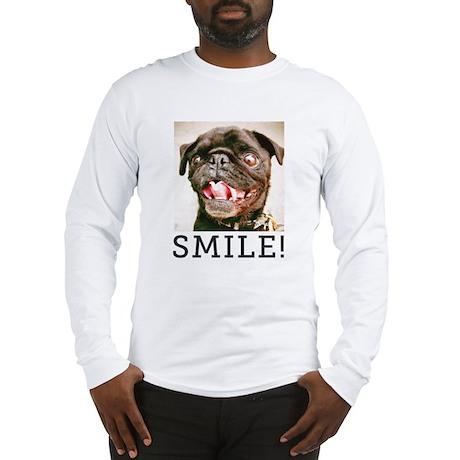 Hamilton Pug - SMILE Long Sleeve T-Shirt