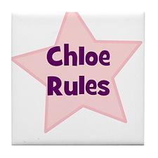 Chloe Rules Tile Coaster
