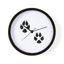 Fox Tracks Wall Clock