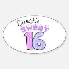 Sarah 16 Oval Decal
