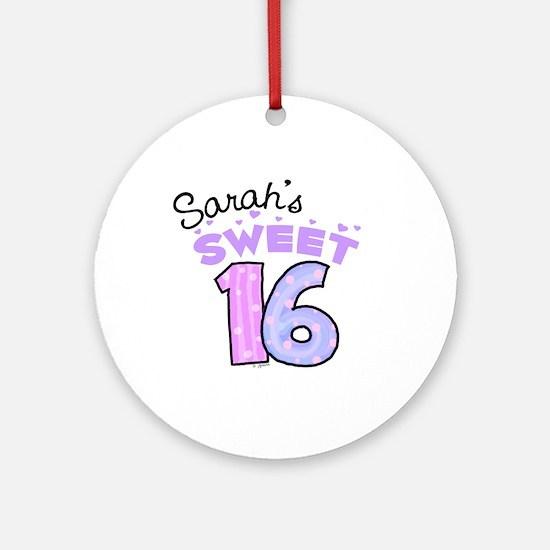 Sarah 16 Ornament (Round)