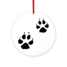 Coyote Tracks Ornament (Round)