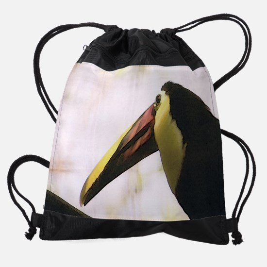 20x16toucan 4.png Drawstring Bag