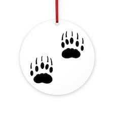 Badger Tracks Ornament (Round)