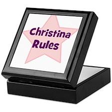 Christina Rules Keepsake Box