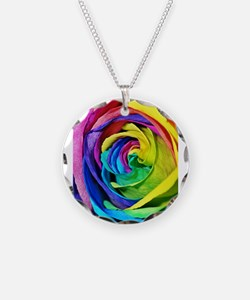 Roses are red, pink, blue, yellow..... Necklace