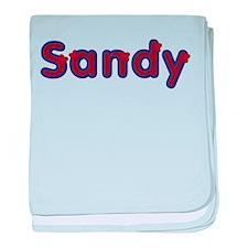 Sandy Red Caps baby blanket