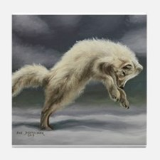 Arctic Fox Tile Coaster
