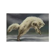 Arctic Fox Rectangle Magnet