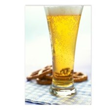Beer and pretzels Postcards (Package of 8)