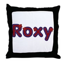 Roxy Red Caps Throw Pillow