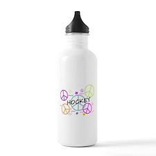 Hockey Peace Sign Water Bottle