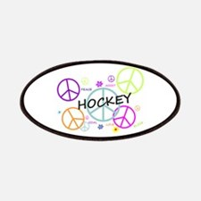 Hockey Peace Sign Patches