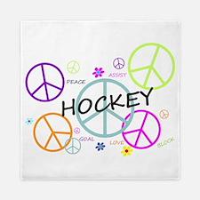 Hockey Peace Sign Queen Duvet