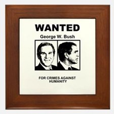 Bush Wanted Poster Framed Tile