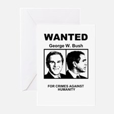 Bush Wanted Poster Greeting Cards (Pk of 10)
