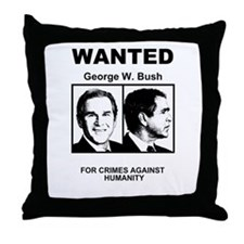 Bush Wanted Poster Throw Pillow
