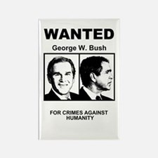 Bush Wanted Poster Rectangle Magnet