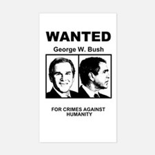 Bush Wanted Poster Rectangle Decal