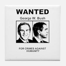 Bush Wanted Poster Tile Coaster