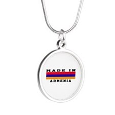 Armenia Made In Silver Round Necklace